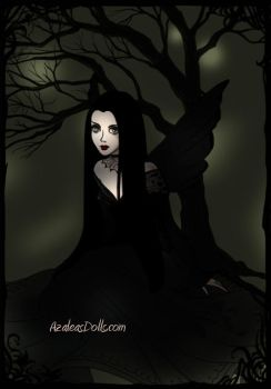 Morticia Addams Fairy by adrianaTheGirlOnFire