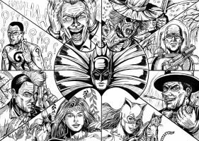 Batmosaic01 Villains by leandro-sf