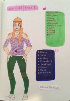 Laurie Arnold Reference Page by SaturnTheAlmighty