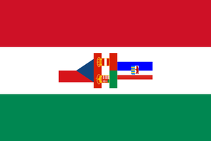 Flag of Slovakia with apartheid by hosmich