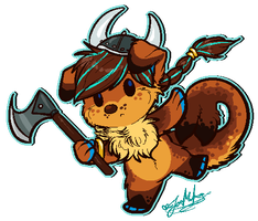 Chibi Pixel YCH: Ragnar~ by ScottishRedWolf