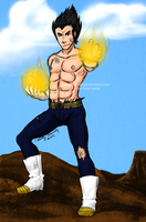 Vegeta by marshmellowbrains