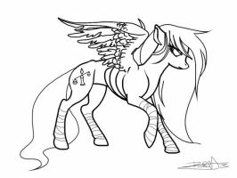 Famine Line Art by CosmicAcorn