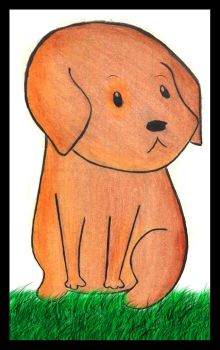 Brown Puppy by AmyRosies