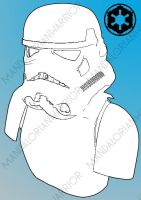 Stormtrooper Line Art by MandalorianWarrior