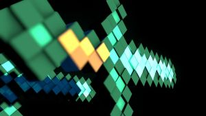 Diamond Sword Extruded - DOF Front Blur by KingFromHatena