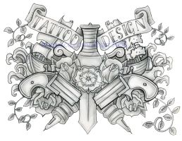 Old school Tattoo Design by Genocide-Al