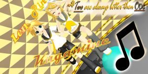 Rin and Len Kagamine by RikaRandomly