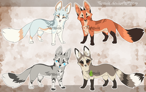 Auction - Tribal Fox Adoptables by TaraviAdopts
