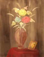 roses on jar by E-salbeinit