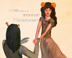 Equius and Aradia by Yuisan
