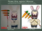 Meme Before and After Hidan Rabbid by AlienaXLoK