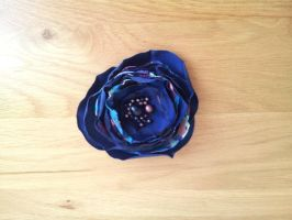 Ocean Deep Flower hair fascinator by paradiseshoretwins