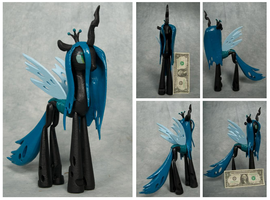 12 inch tall Painted Queen Chrysalis Print by OhNoItsSerp