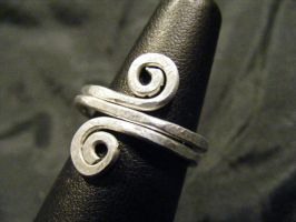 Simple aluminum spiral ring by BacktoEarthCreations