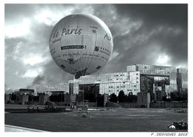 Paris air balloon by bracketting94
