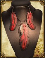 Collier plume by Damiane