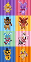 Five Nights at Freddy's Cast by miaow