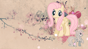 Wallpaper: Fluttershy by MadBlackie