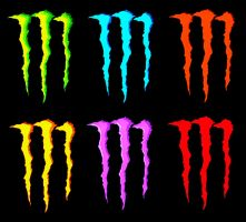 Monster Energy Drink Flavors Wallpaper by AndySkullCandy
