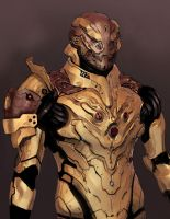 N7 Drell Assault Armor by IgnusDei
