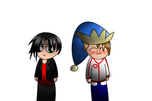 :Test: Humanized Ben and Roy by PoyoPoptart