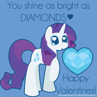 Rarity Valentine by robynneski