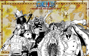one piece character tournament 2013 3rd round wins by DOR20