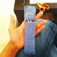 Crochet Hook Monster by MuseOfWords