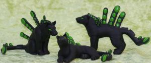 Podcat sculptures by CunningFox