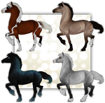 Horse adoptables CLOSED by Echodus