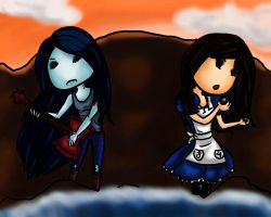 Marceline and Alice by Oniusha