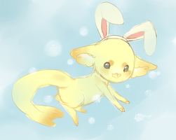 .:Swimming Bunny:. by Pieology
