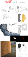 Huge art dump :Part 1: by IronMeow