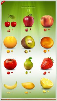 Paradise Fruit Icon Set by artbees
