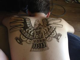 Henna Tribal Eagle by Wrenabird