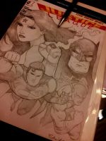 sketch cover jutice league by Sajad126