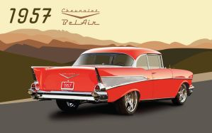 '57 Chevrolet BelAir by ichiwings