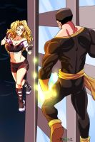 Vix vrs Black Adam by Pharos-E