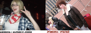 America and 2P!America by CrystaltheEchidna01