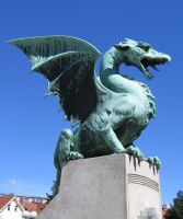Dragon statue 02 by restmlinstock