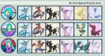 My Trans-Regional Nuzlocke Teams by Winged-kitsune