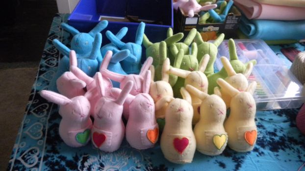 Bunny Plushies - Squad 2 by PinkOctopus13