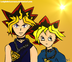 Yami+Yugi-Together in Light by LadyQuintessence