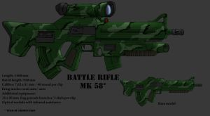 Assault rifle concept by Darkheart1987