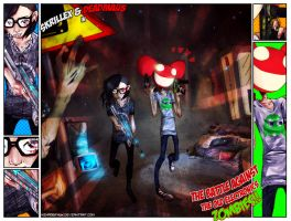 Skrillex, Deadmau5, Zombies by NE-R0