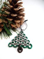 Chainmail Tree Christmas Ornament by SerenityinChains