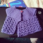 Purple Baby Cardigan by SharonStitches