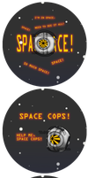 Portal Buttons- SPACE CORE and RICK by TheMaskedHomie