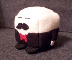Butler Cube Plushie by Cube-lees